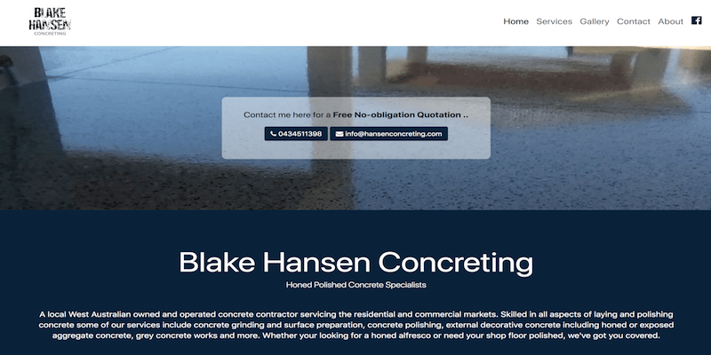image of www.hansenconcreting.com.au