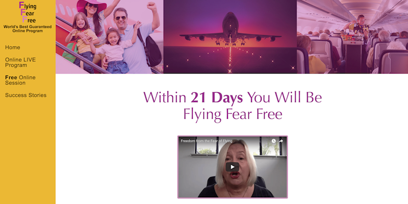 image of www.flyingfearfree.com